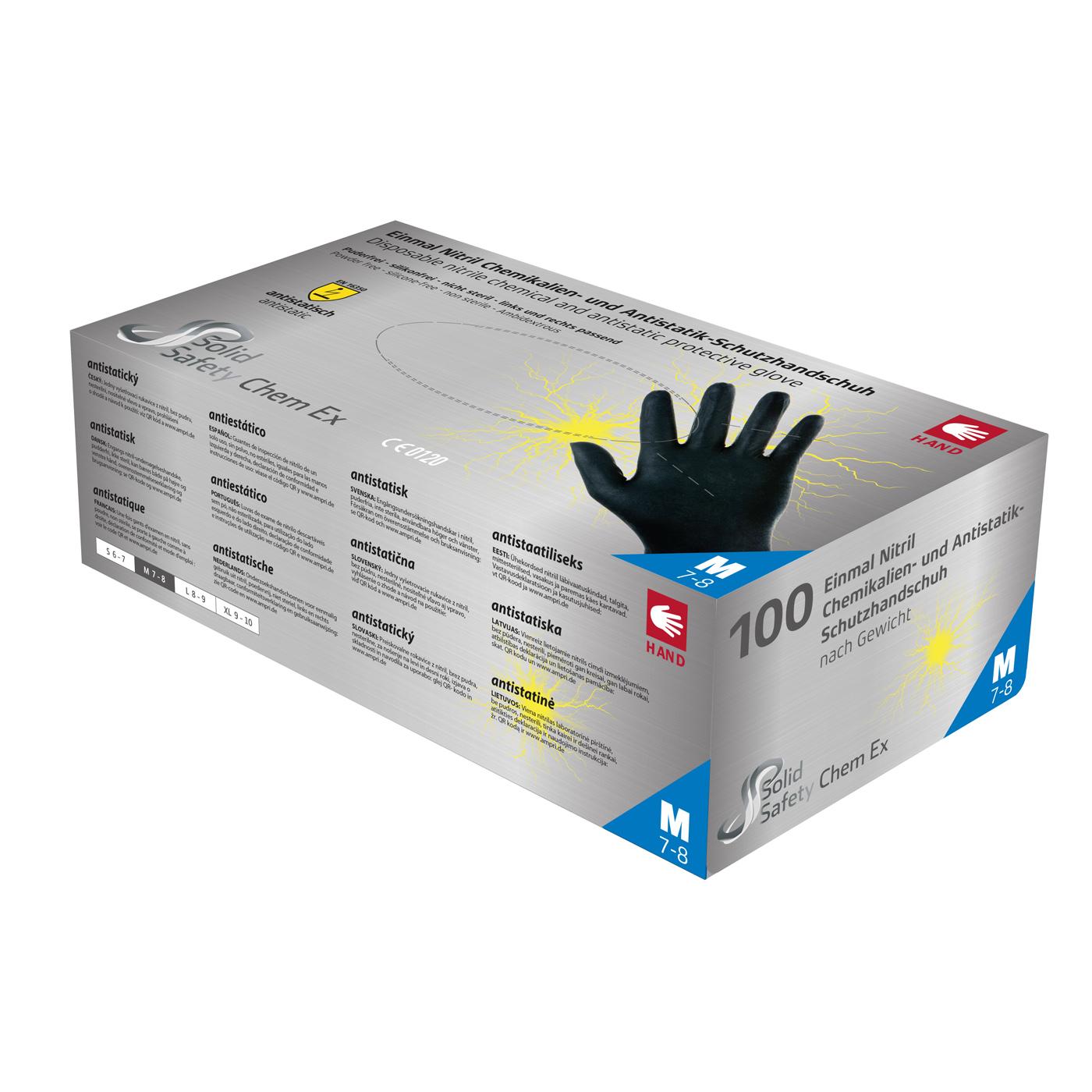 Rękawice jednorazowe Ampri 081304 SolidSafety ChemEx strong