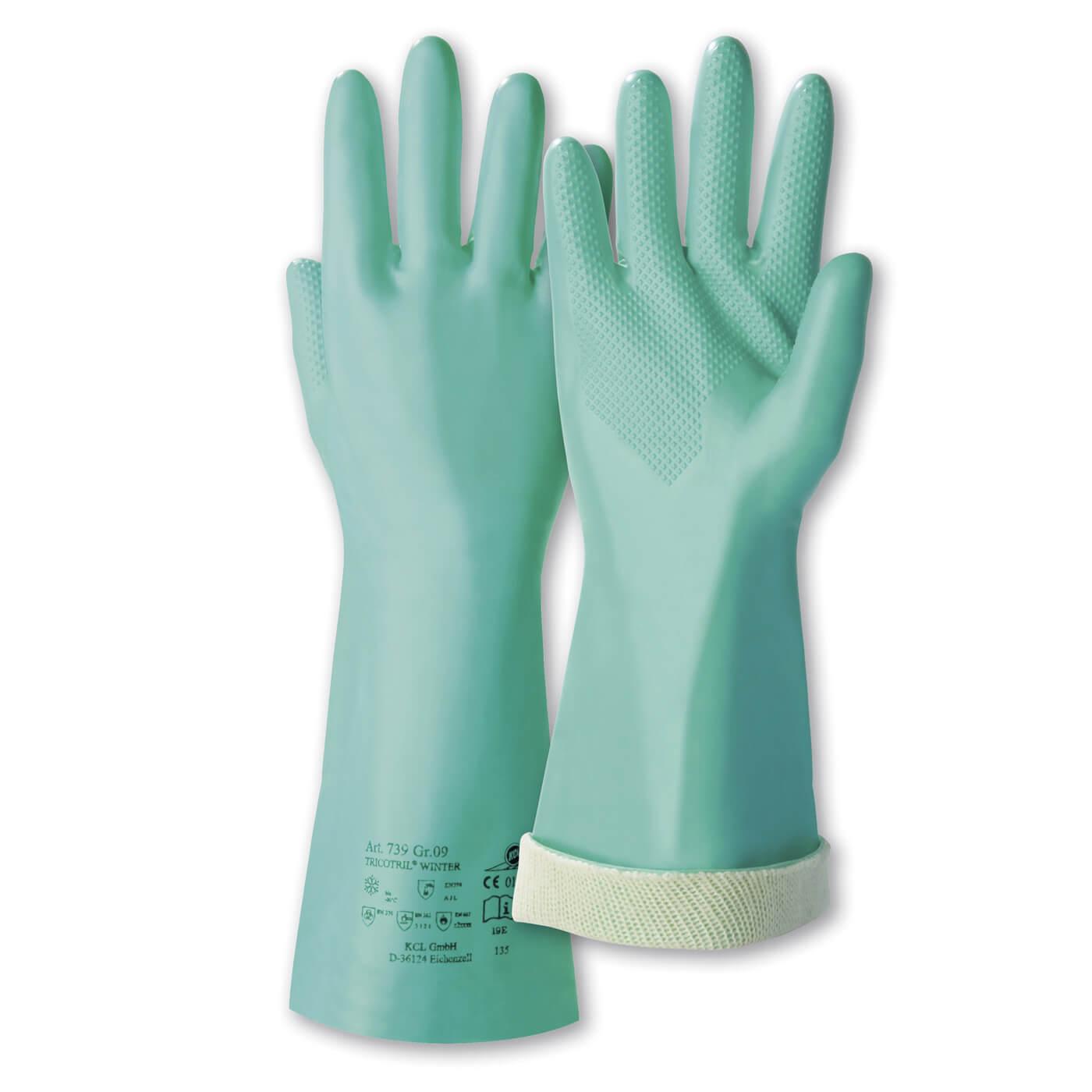 Rękawice chemiczne KCL 739 TRICOTRIL WINTER