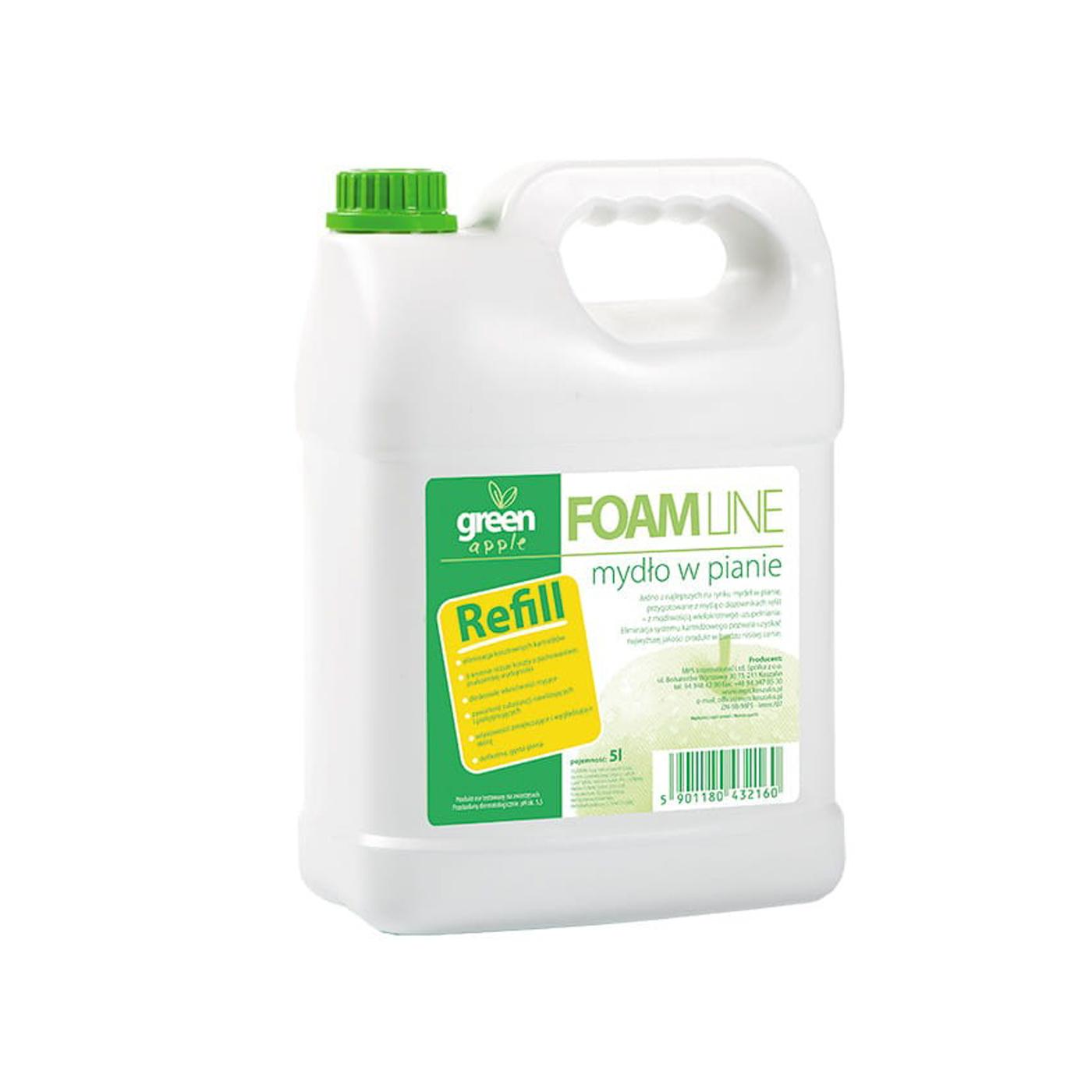 Mydło w pianie Foam Line Green Apple MPS