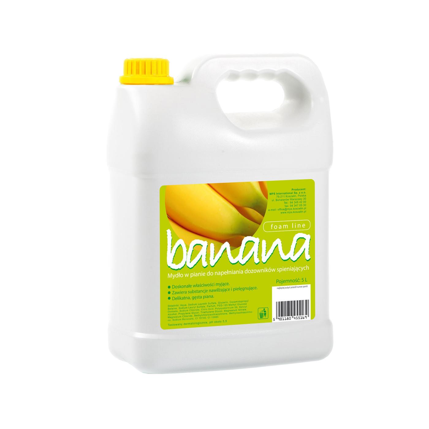 Mydło w pianie Foam Line Banana MPS