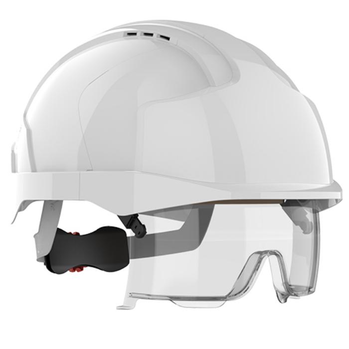 Kask ochronny JSP EVO® VISTAlens™ – biały, wersja wentylowana AMB170-004-F00