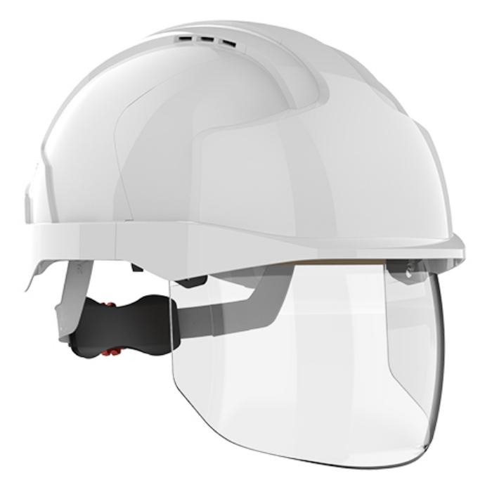 Kask ochronny JSP EVO® VISTAshield ™ – biały, wersja wentylowana AMD170-004-F00