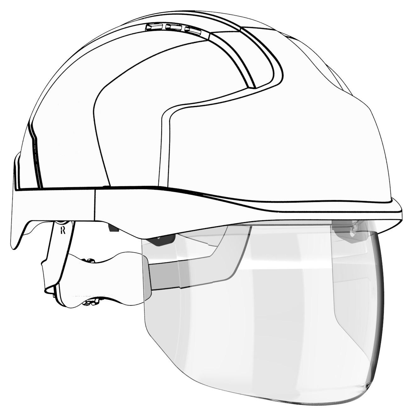 Wymienna, zintegrowana osłona twarzy do kasku EVO® VISTAshield™ AMV200-000-000