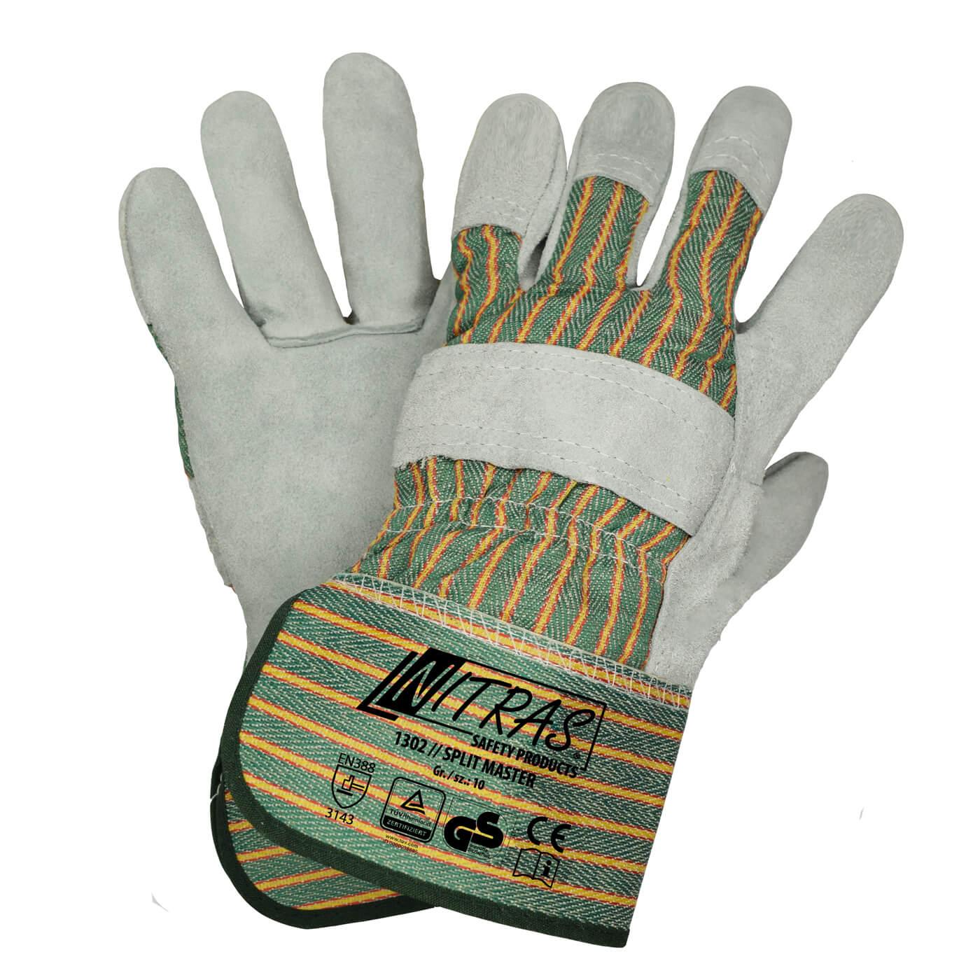 Rękawice skórzane Nitras 1302/ SPLIT MASTER