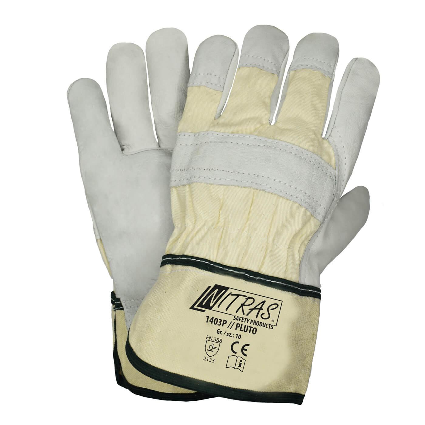 Rękawice skórzane Nitras 1403P/ PLUTO