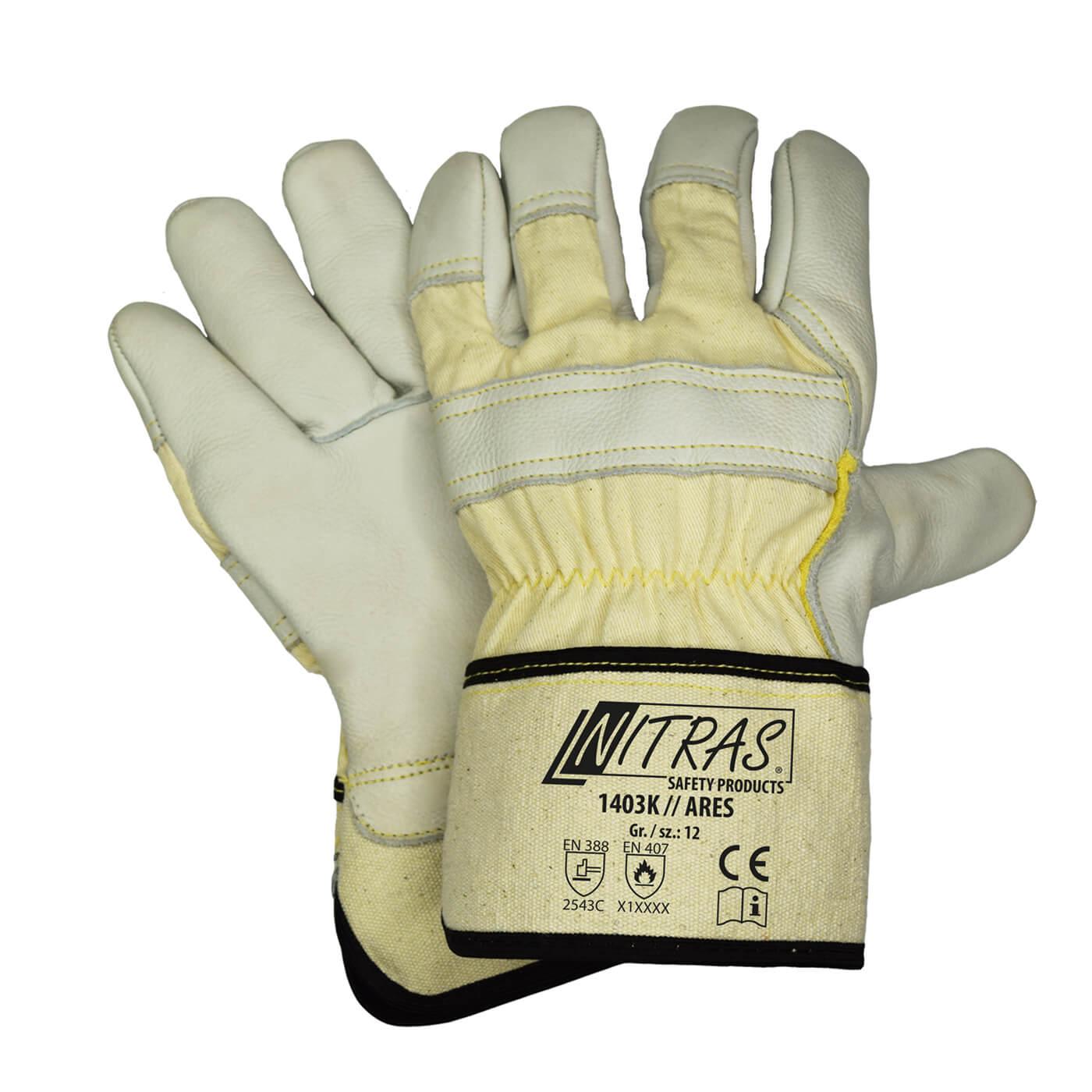 Rękawice antyprzecięciowe antystatyczne Nitras 1403K/ARES