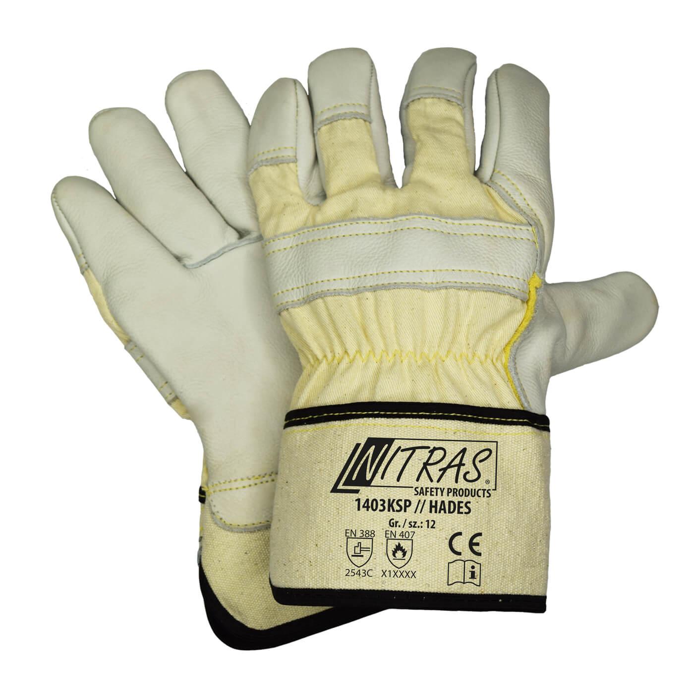 Rękawice antyprzecięciowe Nitras 1403KSP/HADES