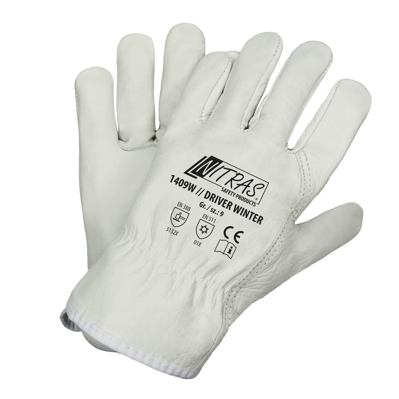 Rękawice skórzane Nitras 1409/ DRIVER WINTER