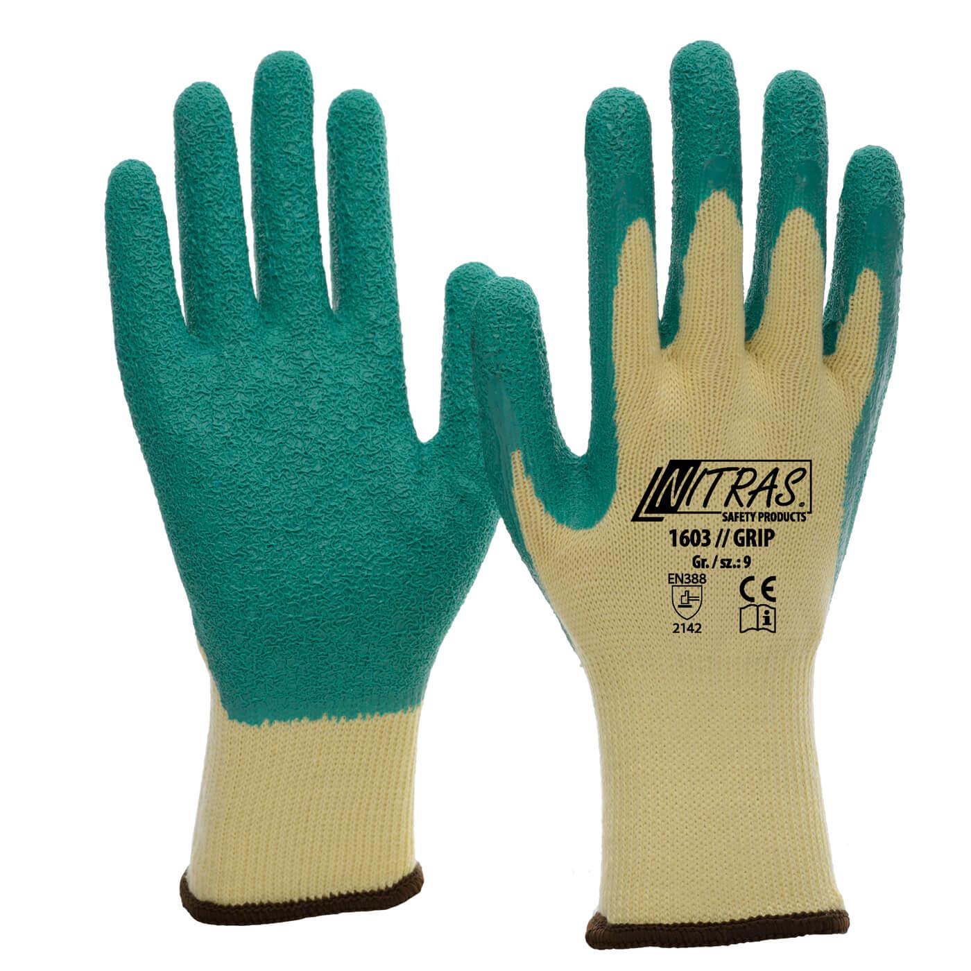 Rękawice lateksowe Nitras 1603/ GRIP