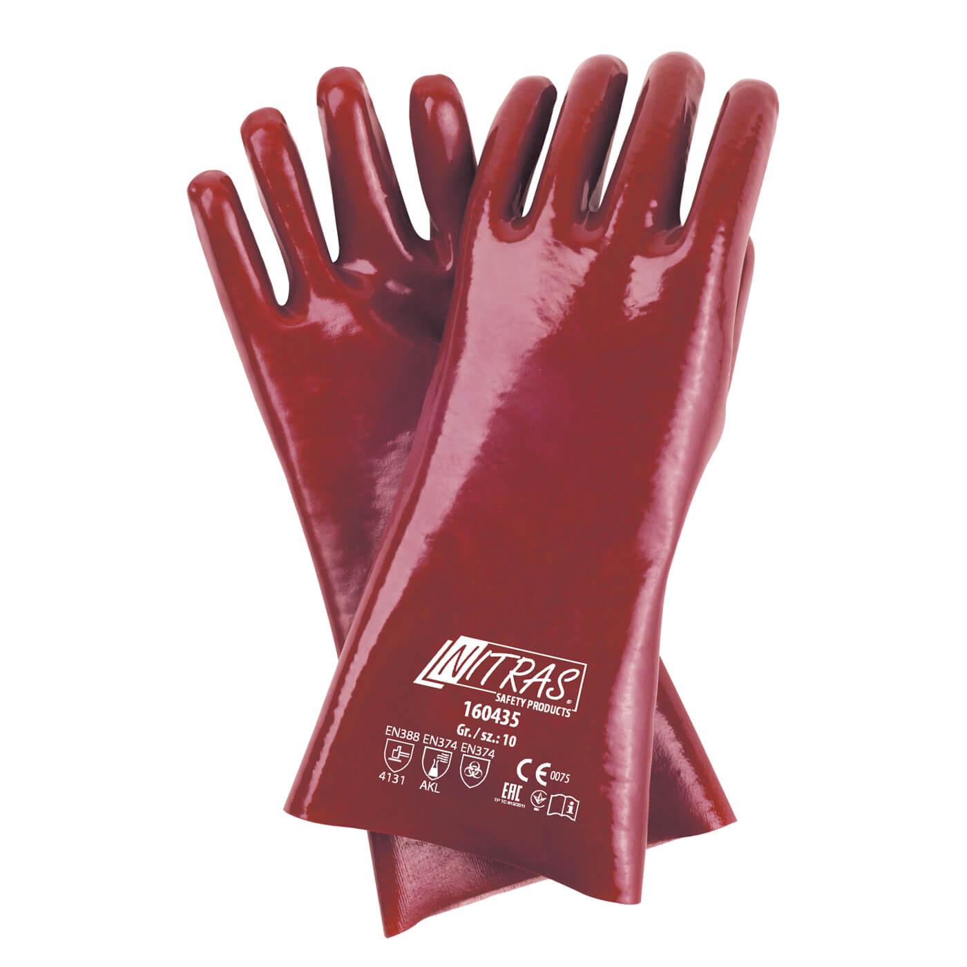 Rękawice PVC Nitras 160435 – 35 cm
