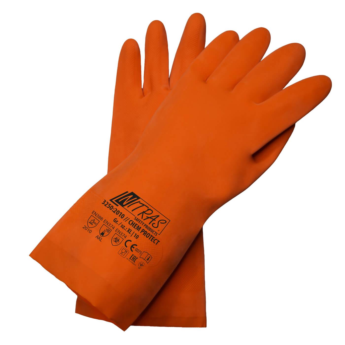 Rękawice chemiczne Nitras 3250/ CHEM PROTECT