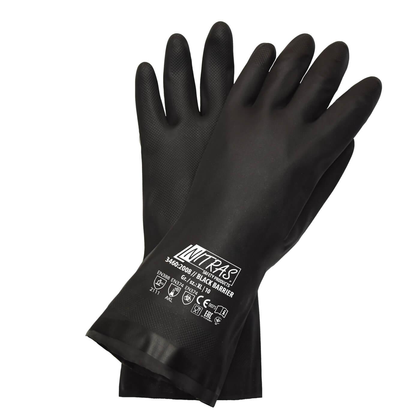 Rękawice chemiczne Nitras 3460/ BLACK BARRIER