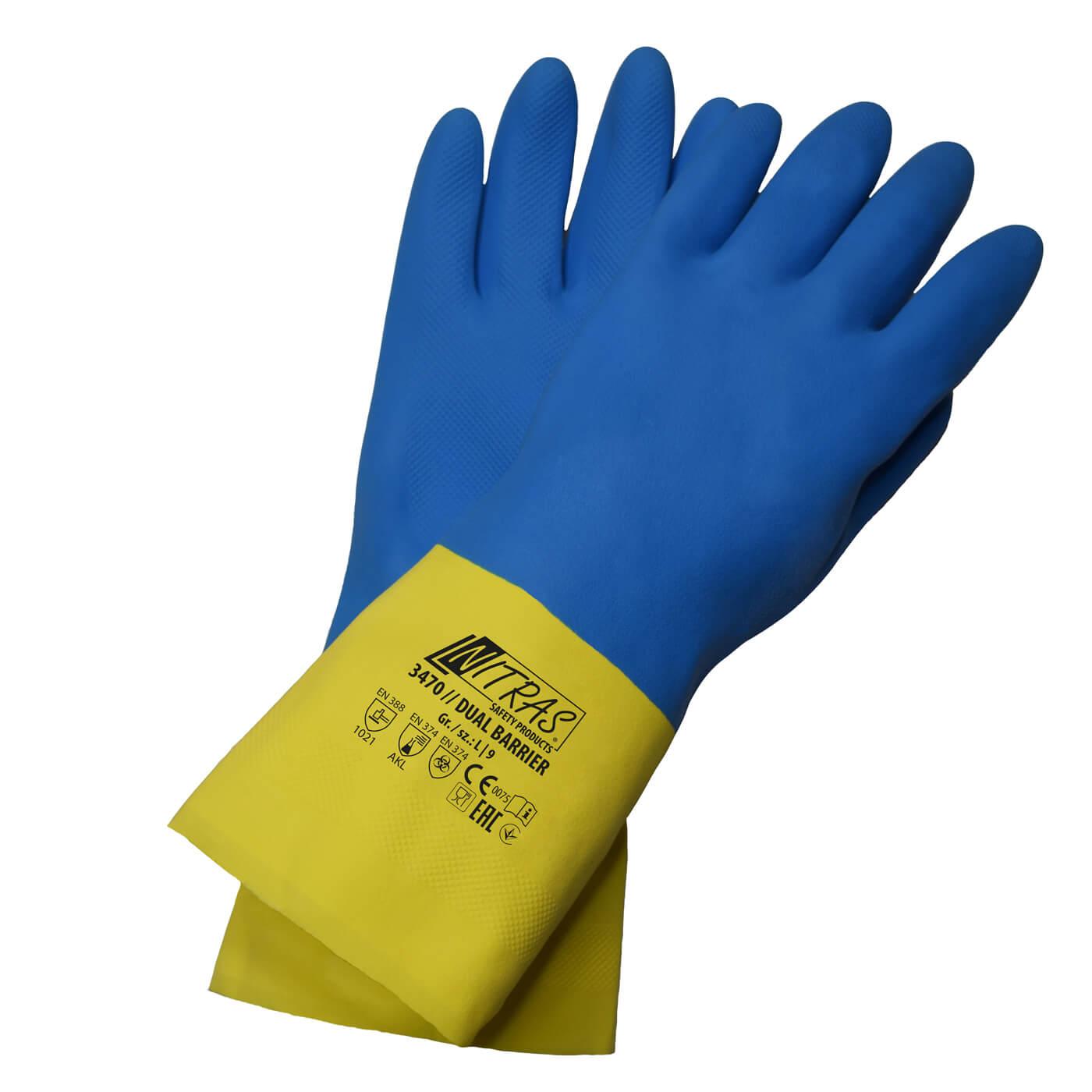 Rękawice chemiczne Nitras 3470/ DUAL BARRIER