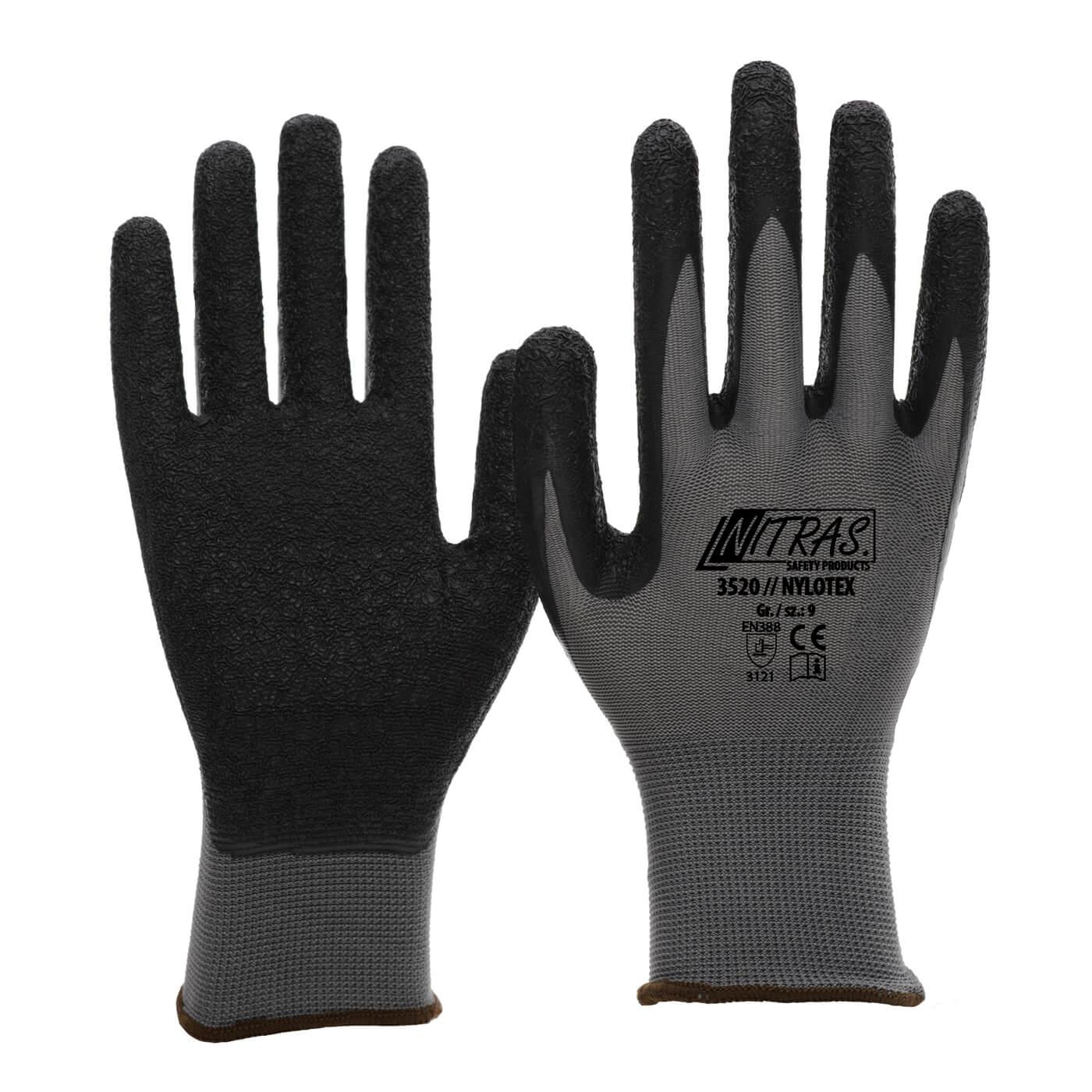 Rękawice montażowe Nitras 3520/ NYLOTEX