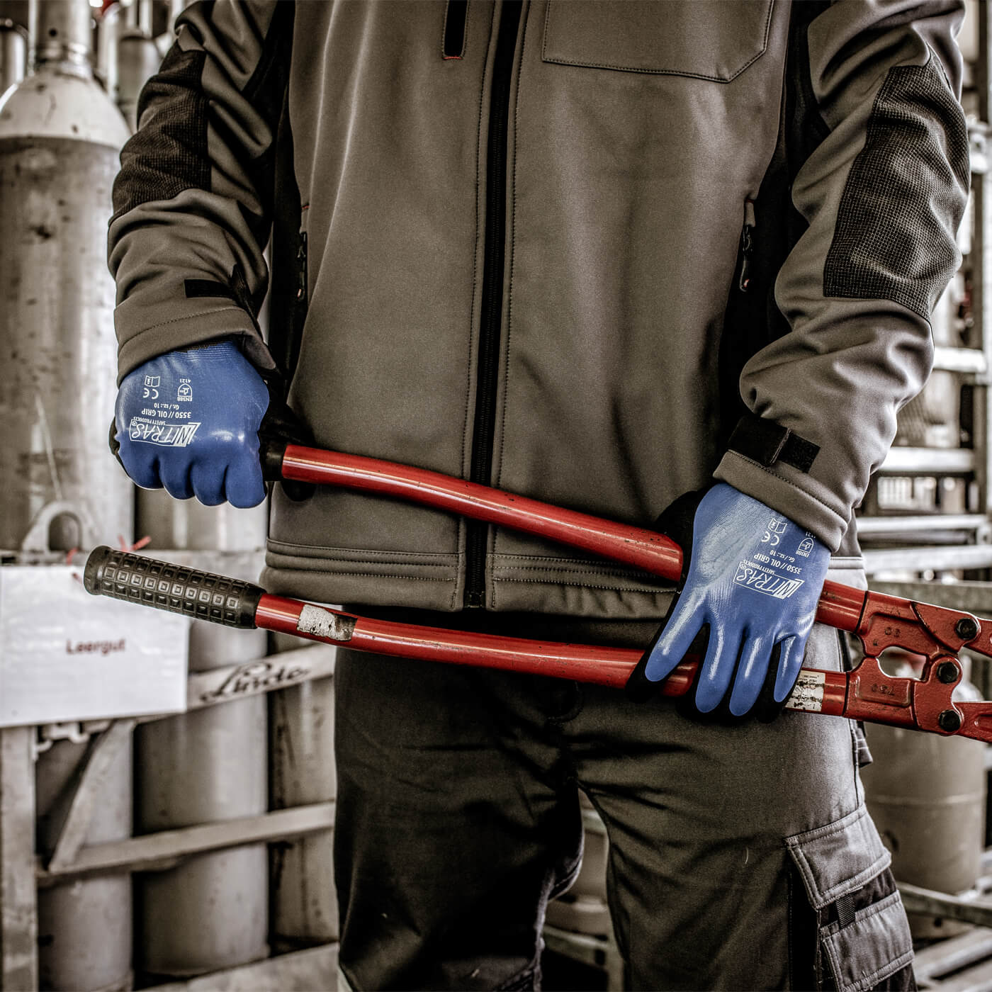 Rękawice montażowe Nitras 3550/ OIL GRIP