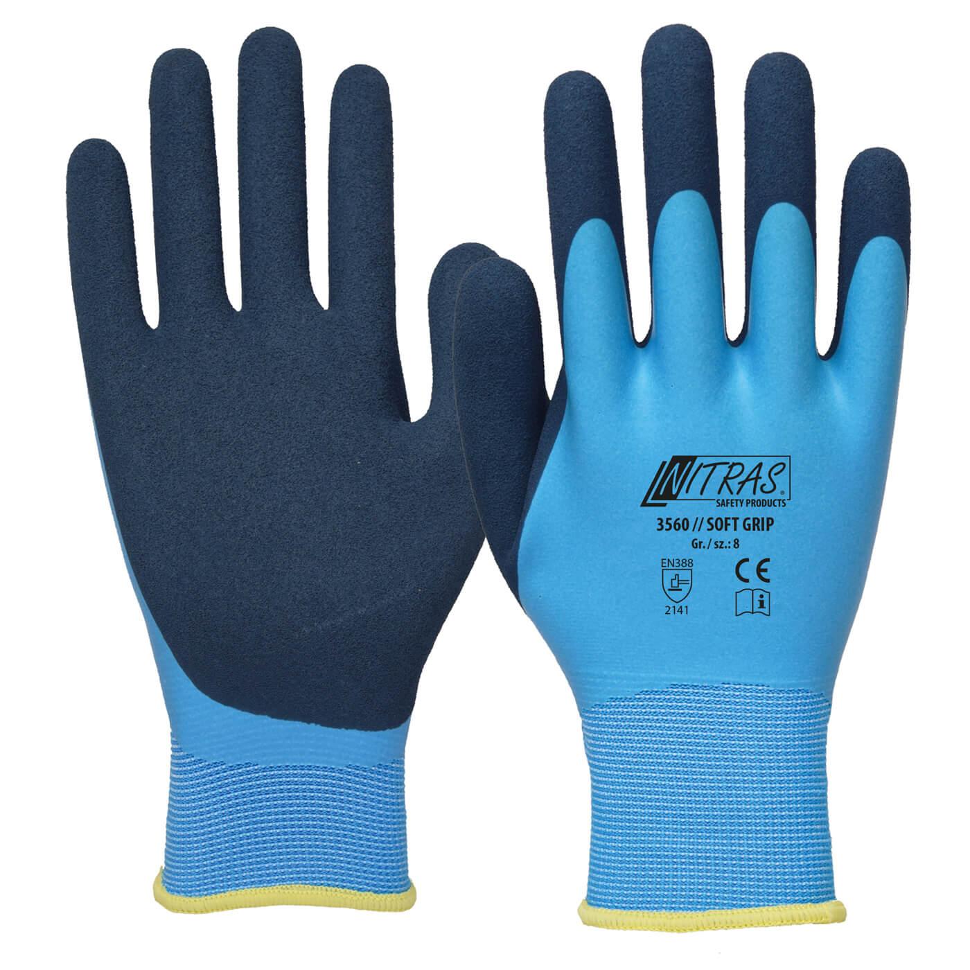 Rękawice montażowe Nitras 3560/ SOFT GRIP