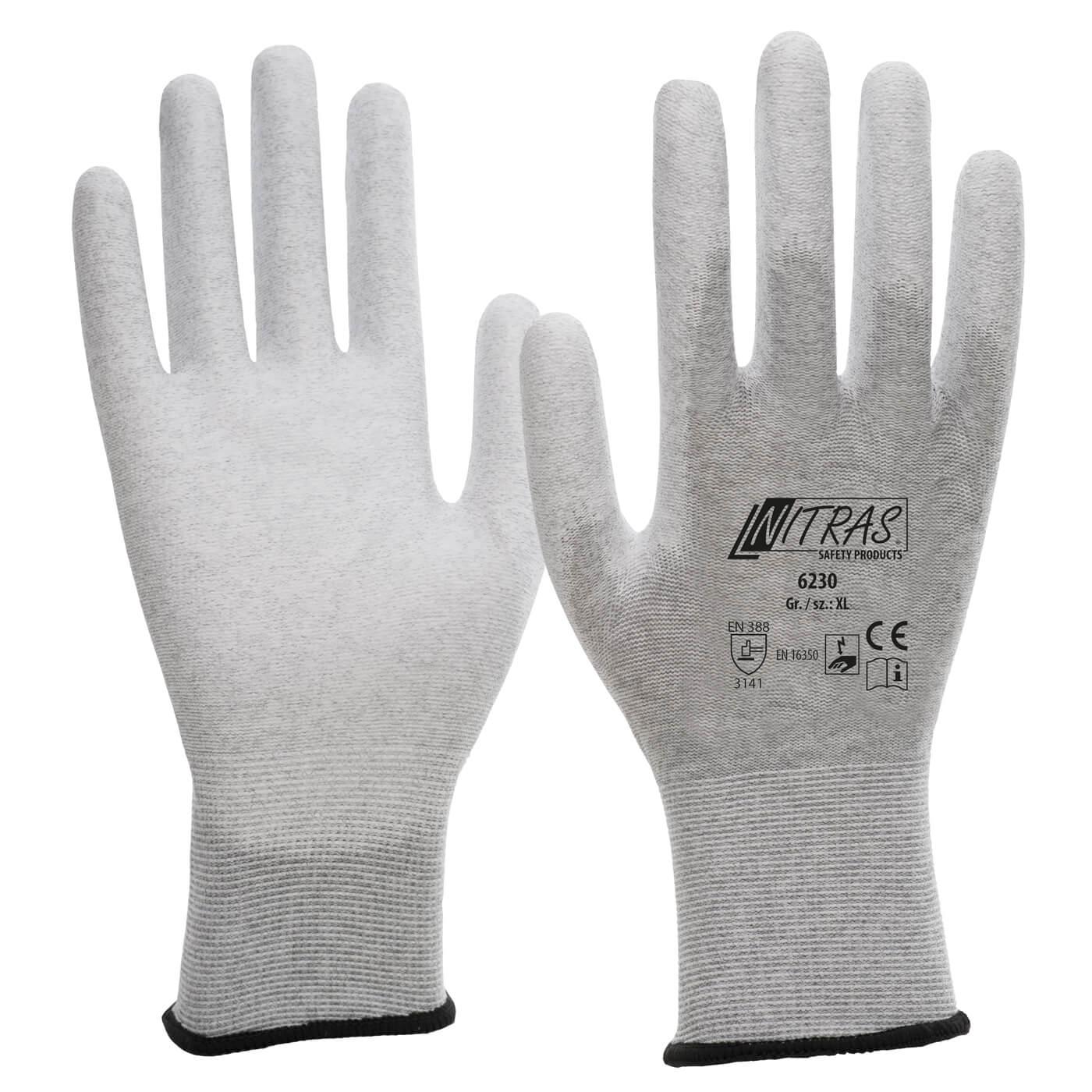 Rękawice antystatyczne Nitras 6230