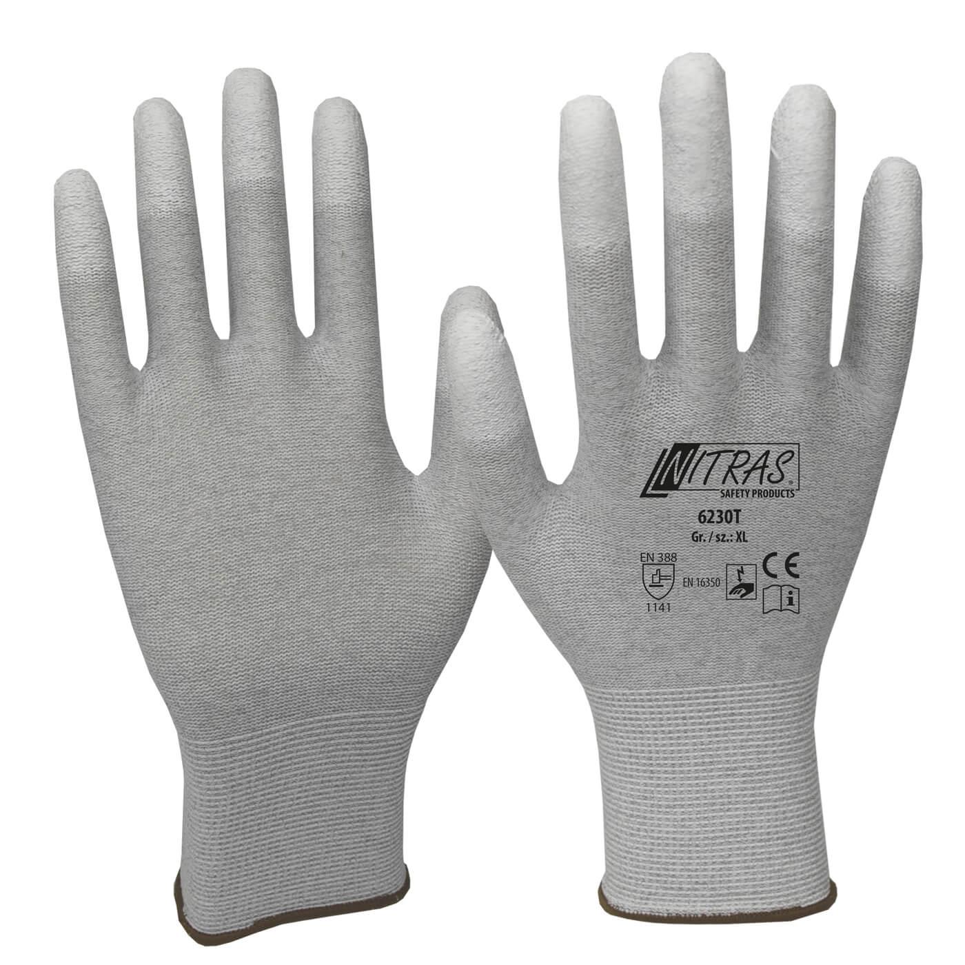 Rękawice antystatyczne Nitras 6230T