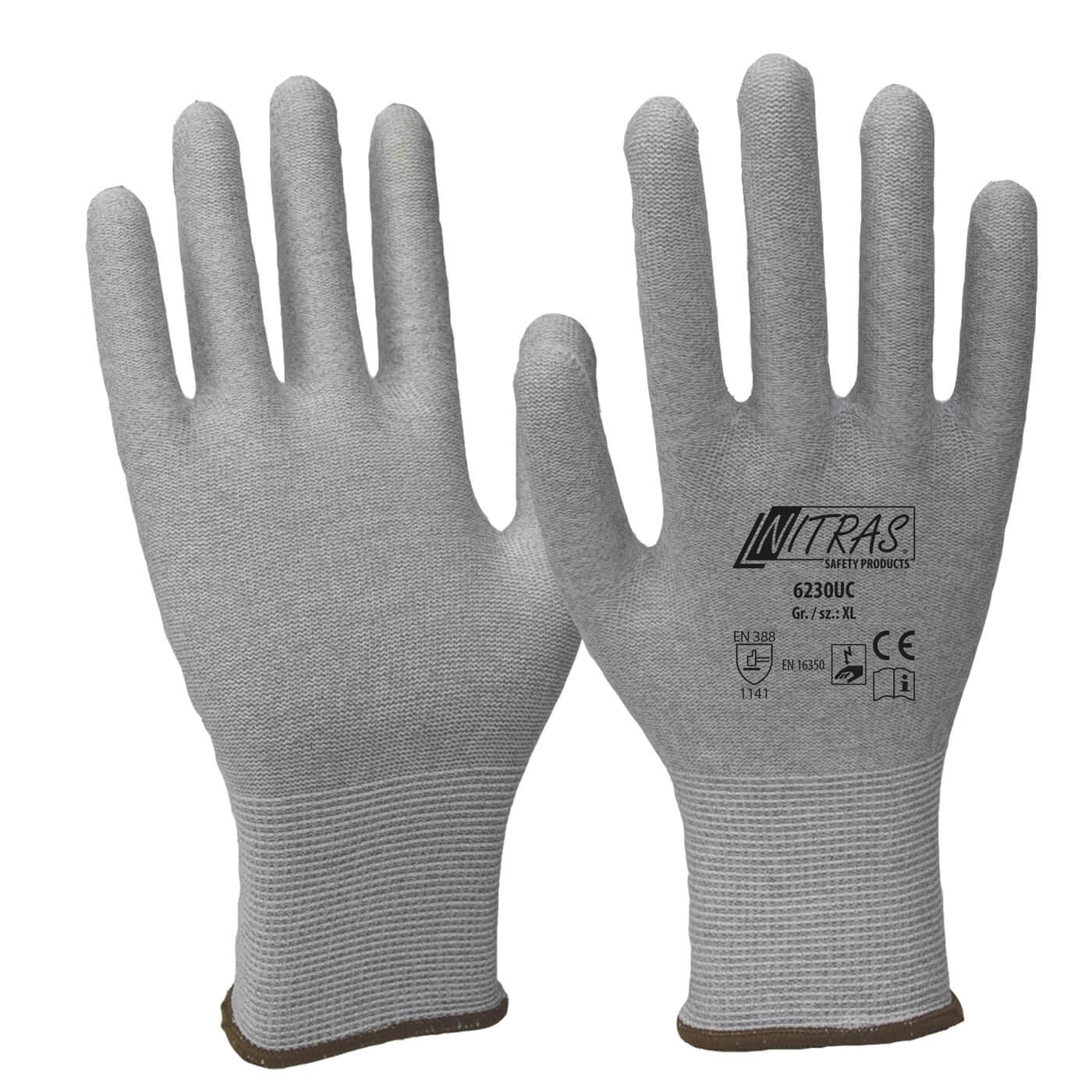 Rękawice antystatyczne Nitras 6230UC