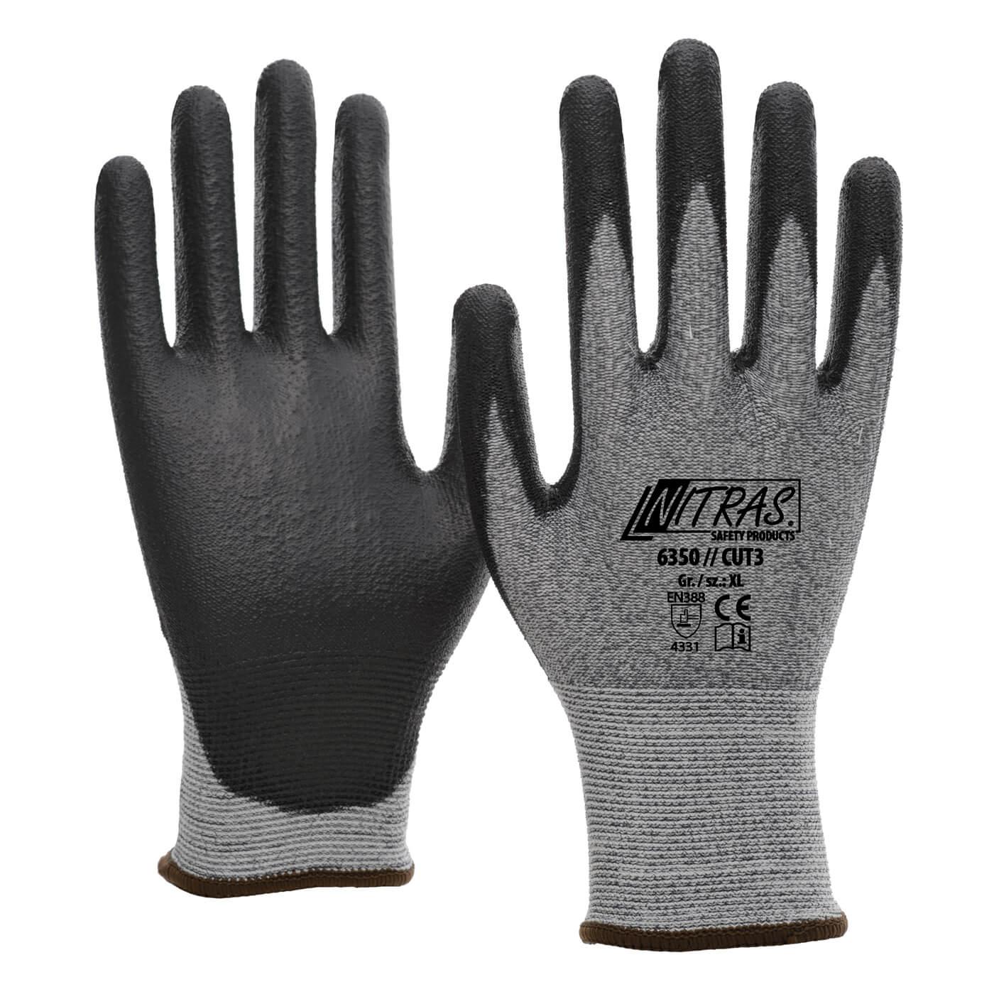 Rękawice antyprzecięciowe Nitras 6350/ CUT3