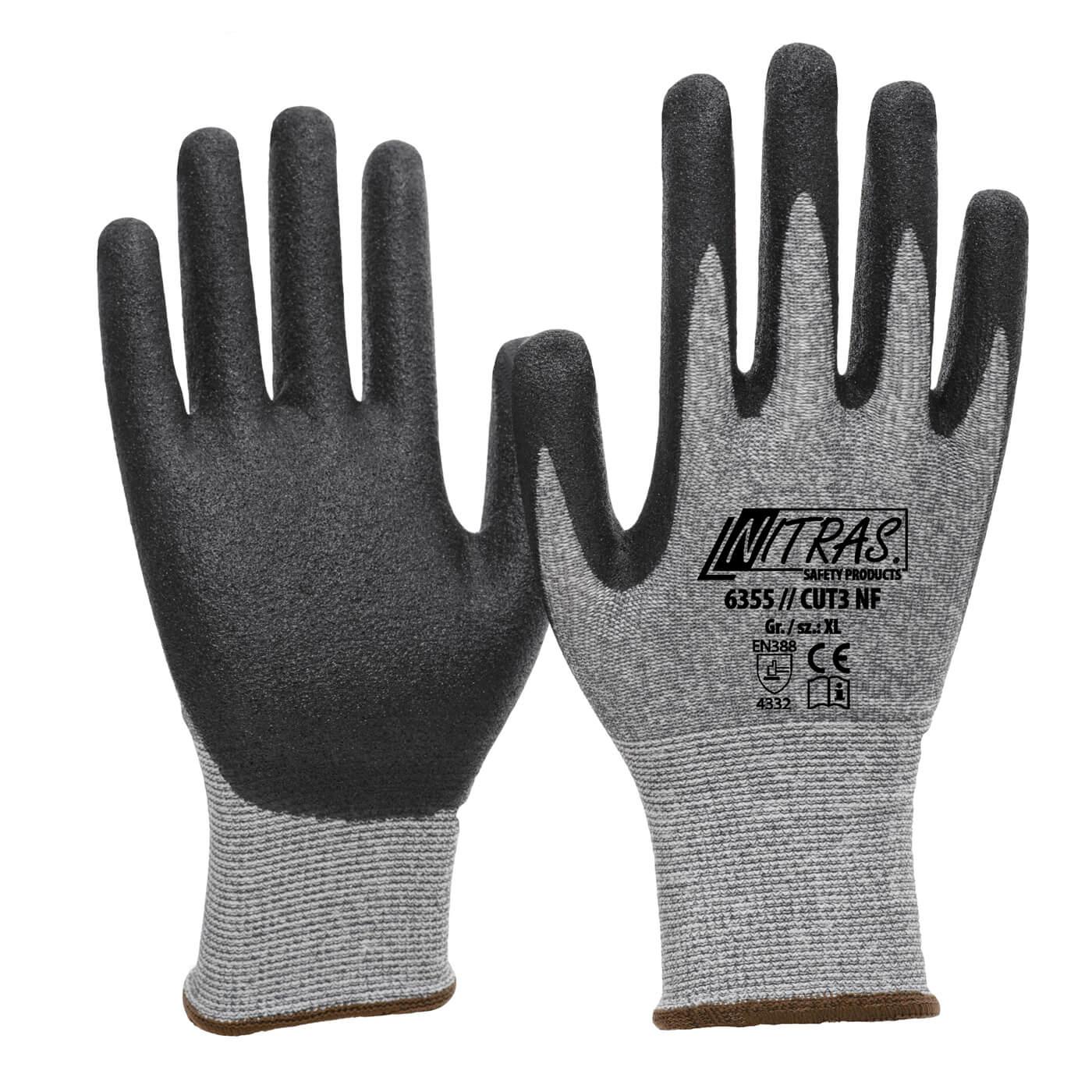 Rękawice antyprzecięciowe Nitras 6355/ CUT3 NF