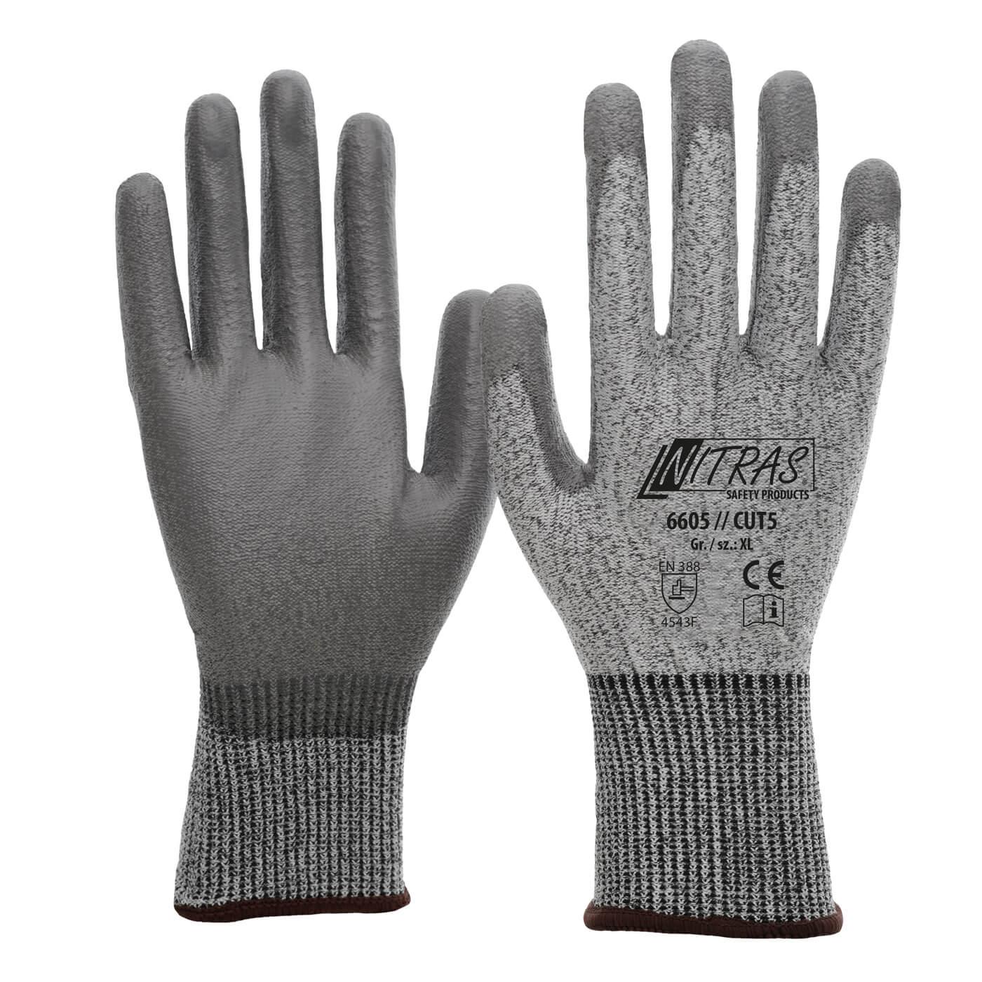 Rękawice antyprzecięciowe Nitras 6605/CUT 5