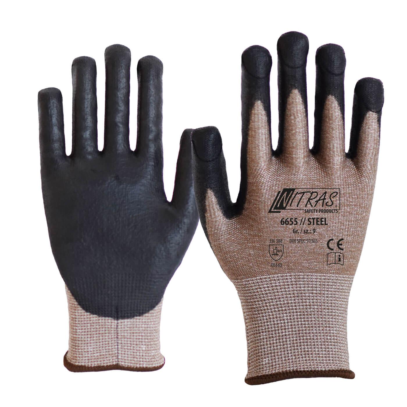 Rękawice antyprzekłuciowe i antyprzecięciowe Nitras 6655/ STEEL
