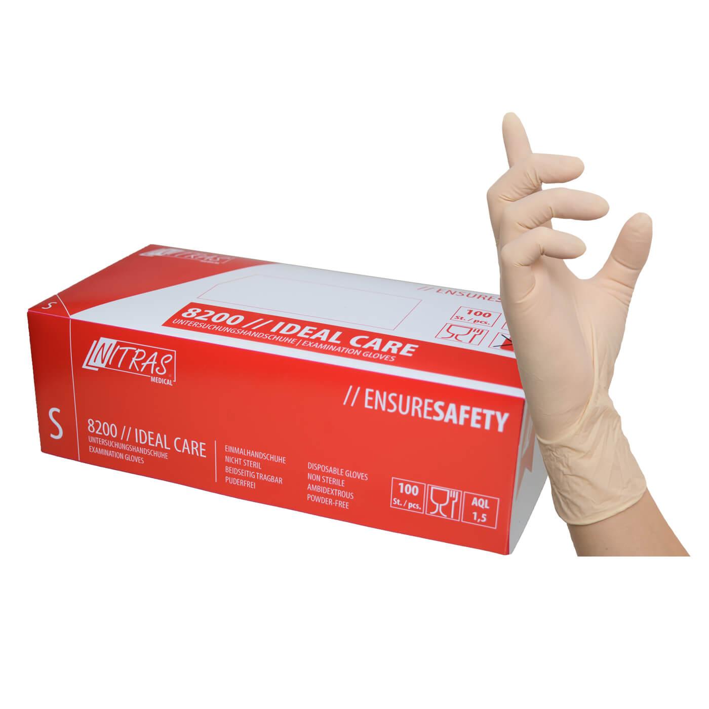 Rękawice jednorazowe Nitras 8200 IDEAL CARE