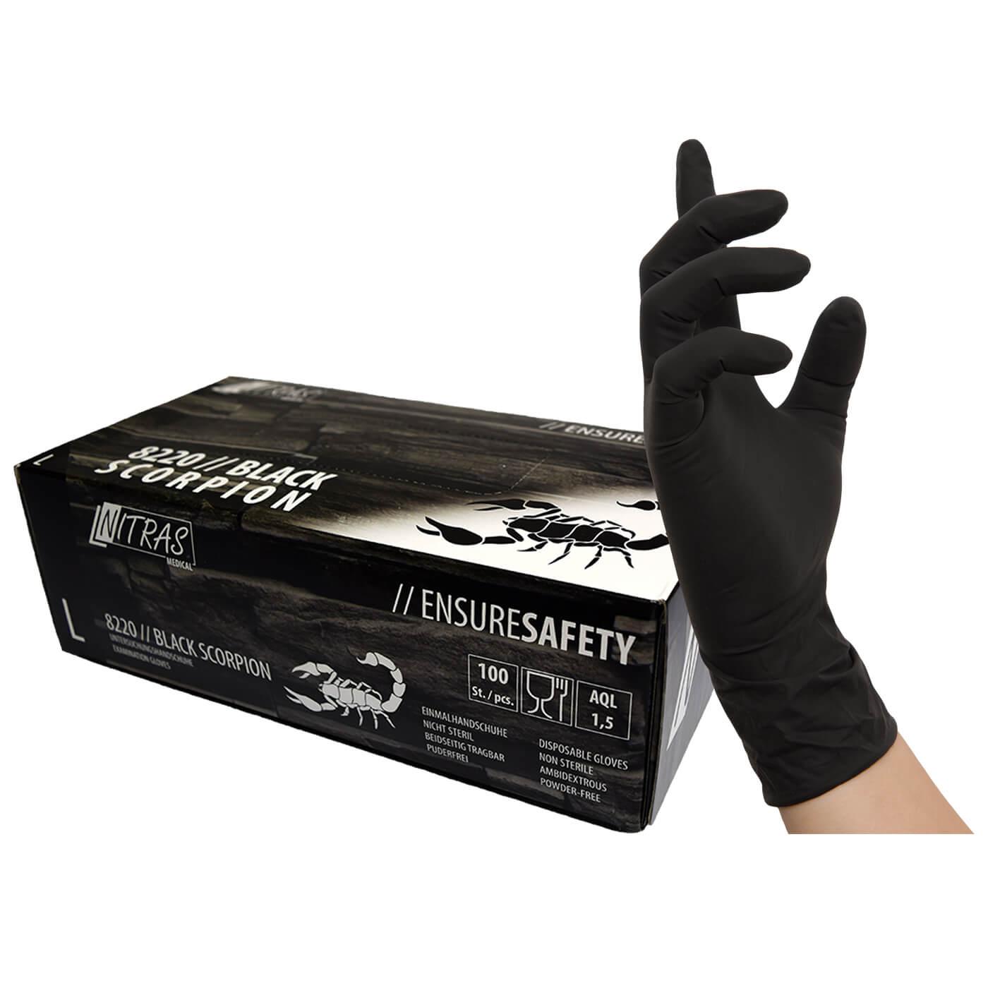 Rękawice jednorazowe Nitras 8220/ BLACK SCORPION