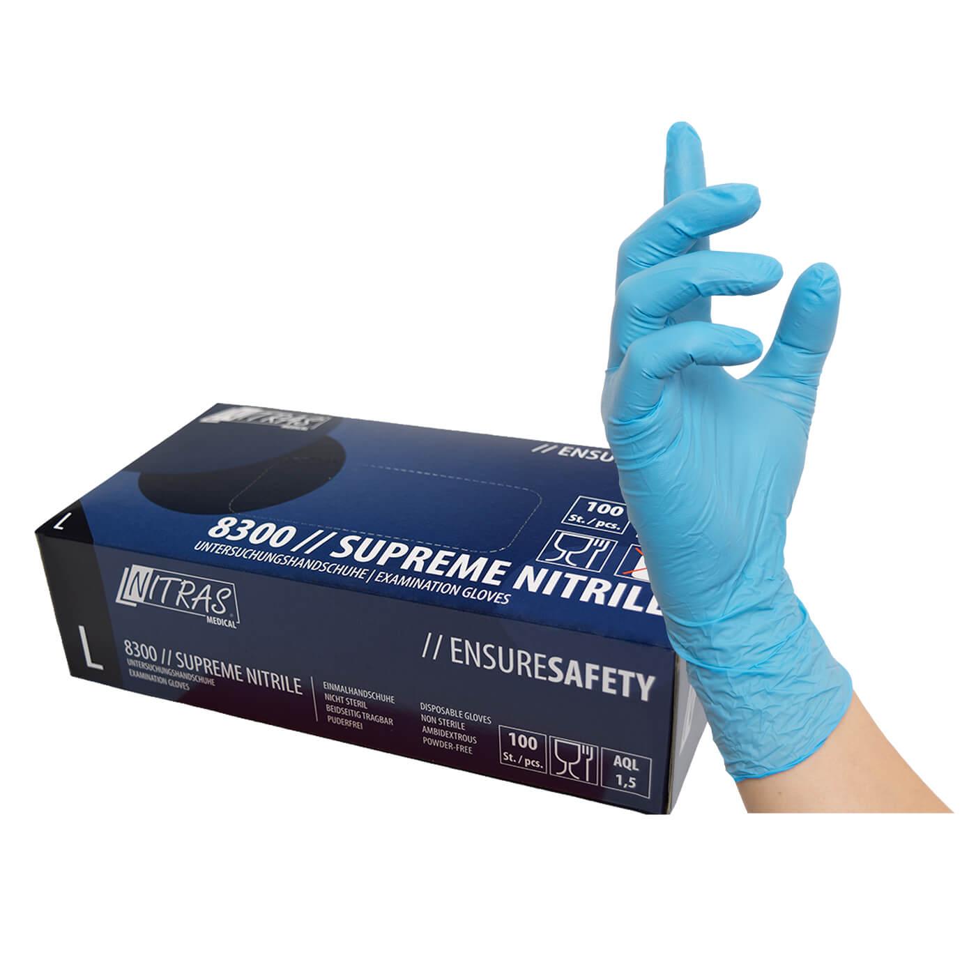 Rękawice jednorazowe Nitras 8300/ SUPREME NITRYLE