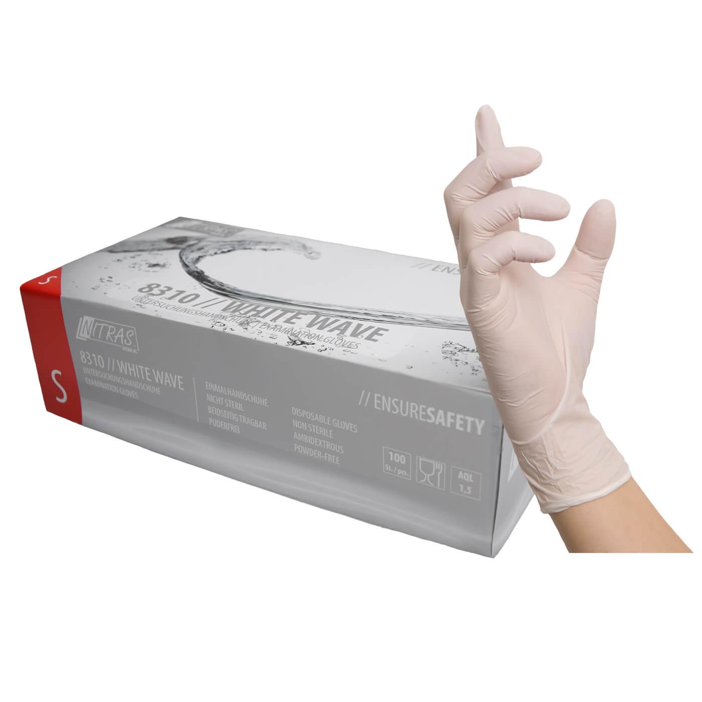 Rękawice jednorazowe Nitras 8310/ WHITE WAVE