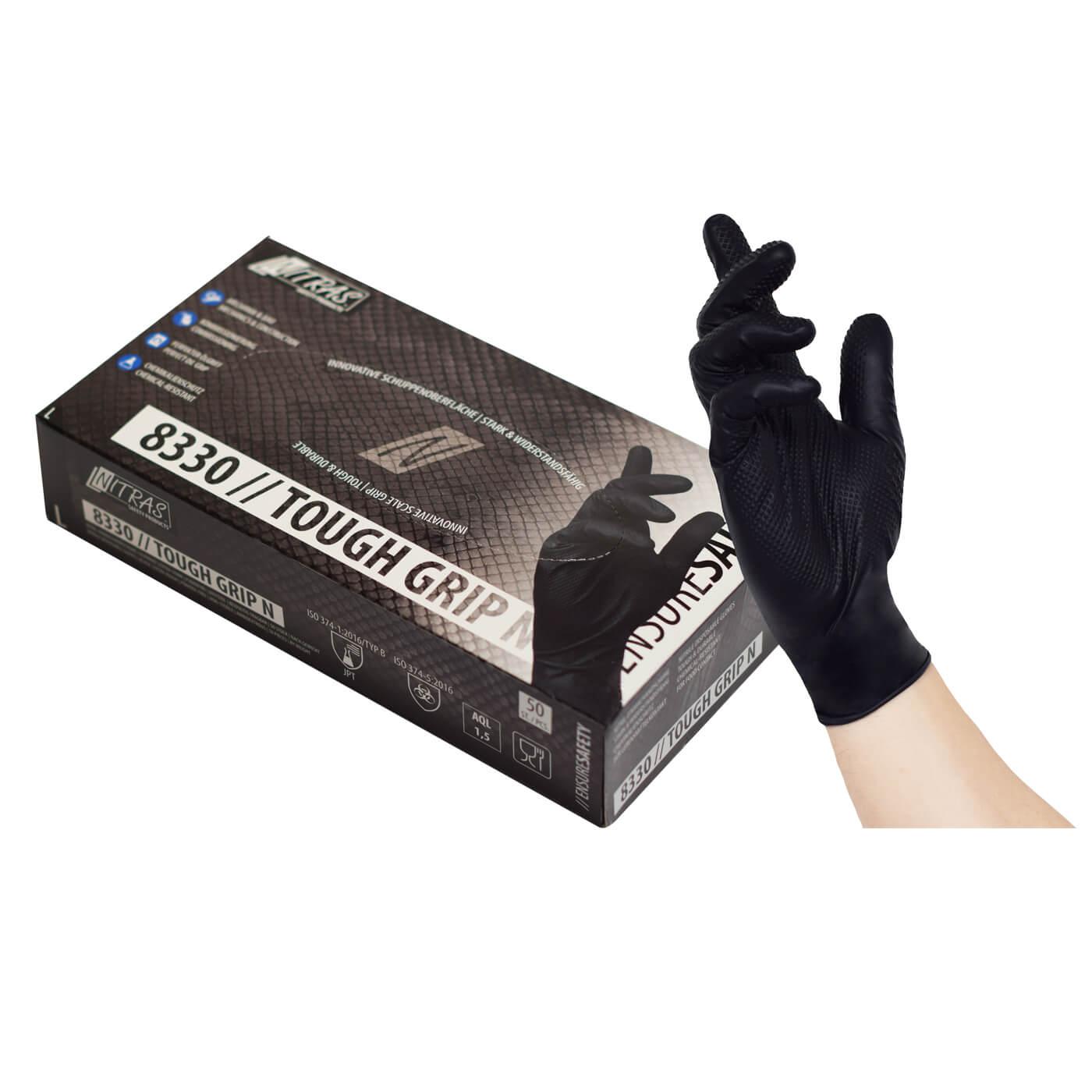 Rękawice jednorazowe Nitras 8330/ TOUGH GRIP N