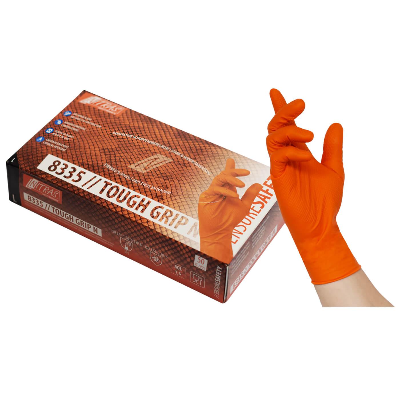 Rękawice jednorazowe Nitras 8335/ TOUGH GRIP N