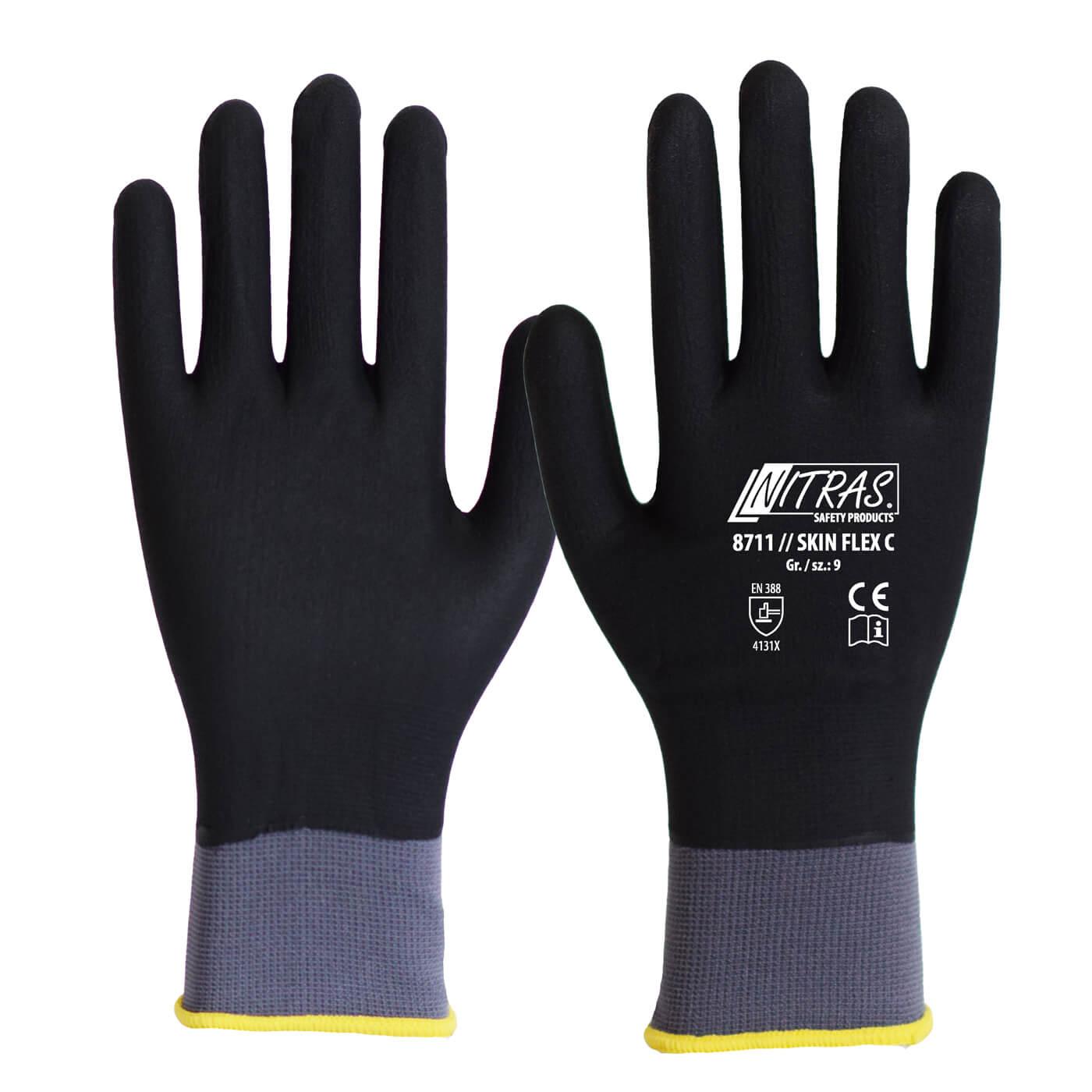 Rękawice montażowe Nitras 8711/ SKIN FLEX C