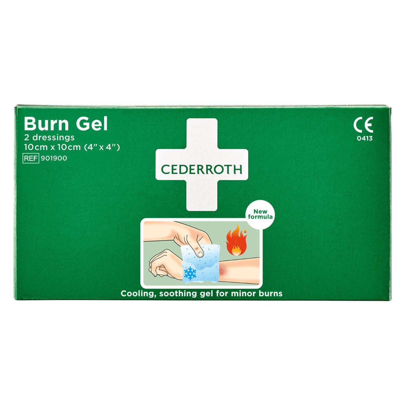 Żel na oparzenia Cederroth Burn Gel Dressing 901900, 2 kompresy żelowe