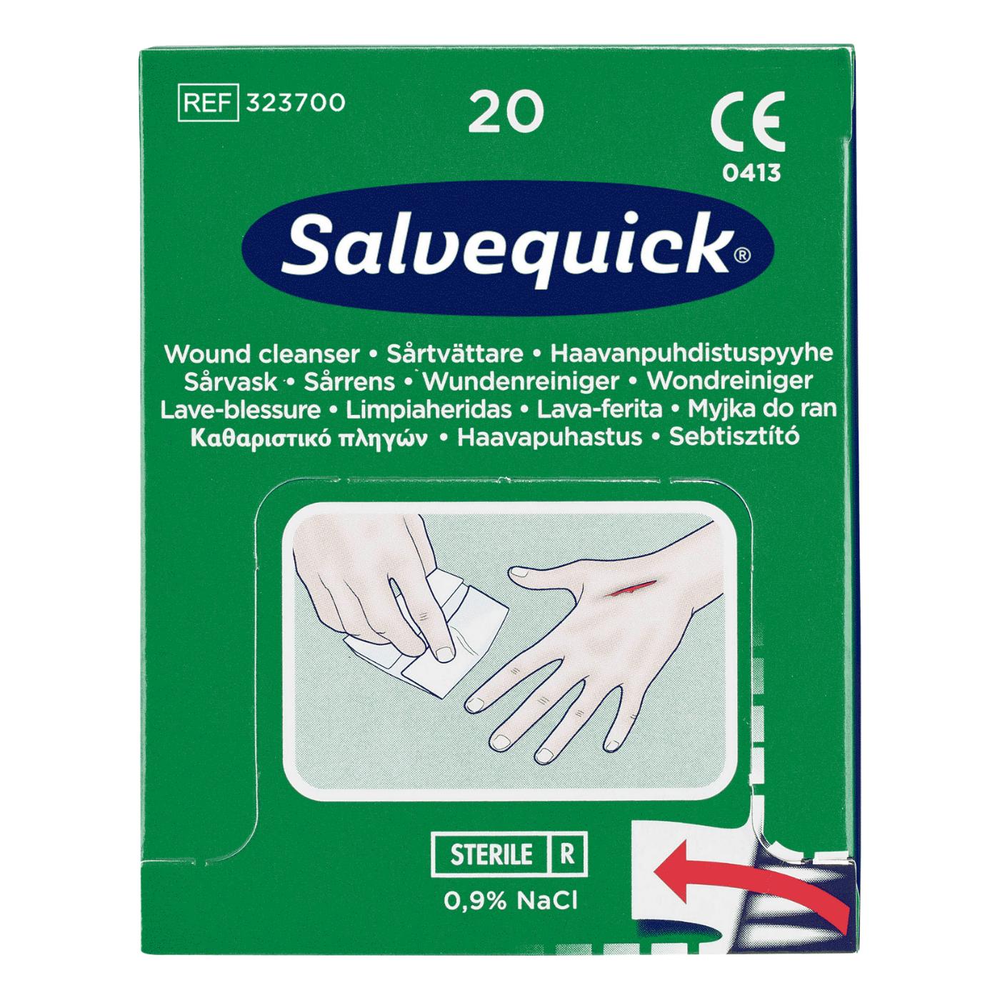 Chusteczki do przemywania ran Salvequick 323700